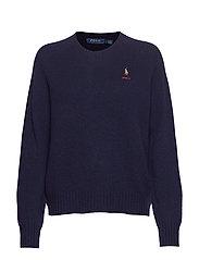 Wool Crewneck Sweater - HUNTER NAVY