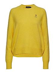 Wool Crewneck Sweater - RACING YELLOW