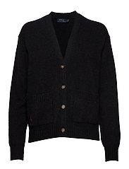 Wool Long-Sleeve Cardigan - CHARCOAL HEATHER