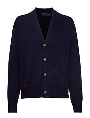 Wool Long-Sleeve Cardigan - HUNTER NAVY