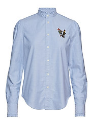 Cotton Oxford Pin Shirt - BLUE HYACINTH