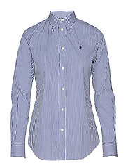 Stretch Slim Fit Striped Shirt - 168B BLUE/WHITE