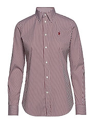 Stretch Slim Fit Striped Shirt - 168C RED/WHITE