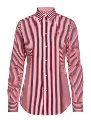 Stretch Slim Fit Striped Shirt - 952J WHITE/CACTUS