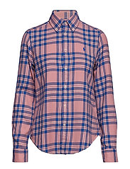 Classic Fit Plaid Twill Shirt - 216A PINK/BLUE