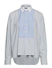 af740170d Polo Ralph Lauren. Floral knit oxford shirt £135 · Boxy Fit Striped Shirt -  212 MEDIUM BLUE W