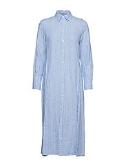 Striped Linen Shirtdress - 956A BLUE/WHITE