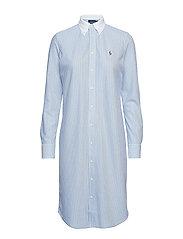 Striped Oxford Shirtdress - HARBOR ISLAND BLU