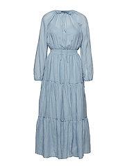 Tiered-Skirt Maxidress - BLUE NOTE