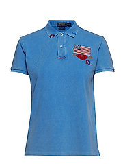 Classic Fit Embroidered Polo - COLBY BLUE