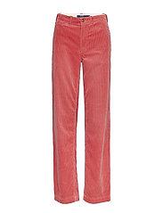 Cotton Corduroy Straight Pant - DESERT ROSE