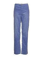Cotton Corduroy Straight Pant - INDIGO SKY