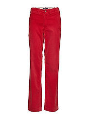 Cotton Corduroy Straight Pant - NEW RED