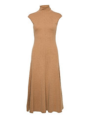 Cashmere Sleeveless Dress - COLLECTION CAMEL