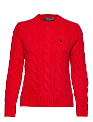 WOOL/CASHMERE BLEND-LSL-SWT - FALL RED