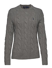 WOOL/CASHMERE BLEND-LSL-SWT - FAWN GREY HEATHER