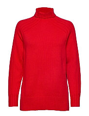 WOOL/CASHMERE JSY-LSL-SWT - FALL RED