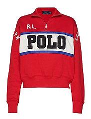 Half-Zip Polo Fleece - CHARTER RED