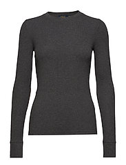 Elbow-Patch Rib-Knit Top - BARCLAY HEATHER