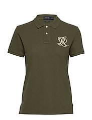 Classic Fit Beaded Polo Shirt - DEFENDER GREEN