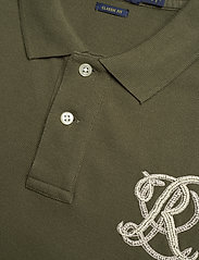 Polo Ralph Lauren - Classic Fit Beaded Polo Shirt - basic t-shirts - defender green - 2