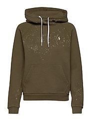 Acid-Wash Fleece Hoodie - DEFENDER GREEN