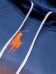 Polo Ralph Lauren - Ombré Fleece Hoodie - hoodies - navy/ orange ombr - 2