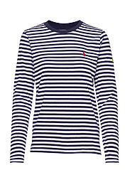 Striped Long-Sleeve Tee - CRUISE NAVY/ WHIT