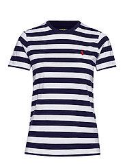 Striped Short-Sleeve Tee - CRUISE NAVY/ WHIT