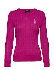Cable-Knit Cotton Sweater - ACCENT PINK