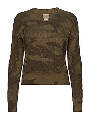 Camo Cable-Knit Sweater - CAMO