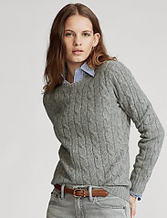 Polo Ralph Lauren - Cable-Knit Cashmere Sweater - jumpers - battalion grey he - 0