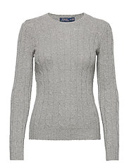 Cable-Knit Cashmere Sweater - BATTALION GREY HE