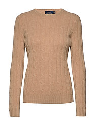 Cable-Knit Cashmere Sweater - CAMEL MELANGE