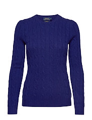 Cable-Knit Cashmere Sweater - FALL ROYAL