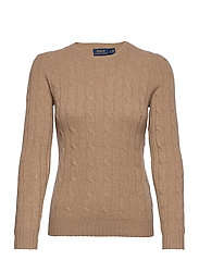 Cable-Knit Cashmere Sweater - LUXURY BEIGE HEAT