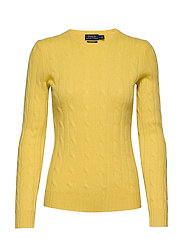 Cable-Knit Cashmere Sweater - OPTIC YELLOW