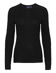 Cable-Knit Cashmere Sweater - POLO BLACK