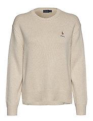 Silk Crewneck Sweater - DARK ENGLISH CREA
