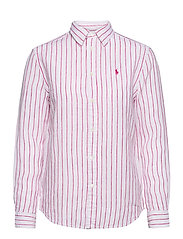 Relaxed Fit Linen Shirt - 911 WHITE/PINK
