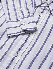 Polo Ralph Lauren - Relaxed Fit Linen Shirt - langærmede skjorter - 925 white/blue - 3
