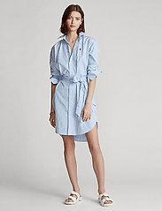 Polo Ralph Lauren - Striped Belted Shirtdress - everyday dresses - 784b white/blue - 0