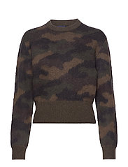 Camo-Print Wool Sweater - CAMO