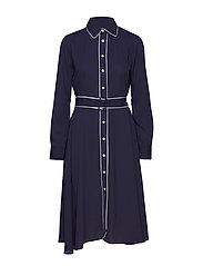 Buckled Shirtdress - CRUISE NAVY