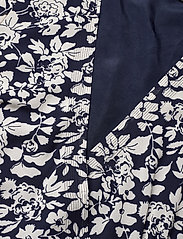 Polo Ralph Lauren - Floral Crepe Wrap Dress - sukienki do kolan i midi - navy floral - 2