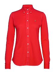Cotton Knit Oxford Shirt - AFRICAN RED