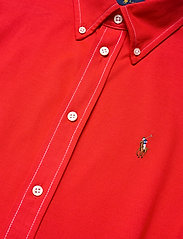 Polo Ralph Lauren - Cotton Knit Oxford Shirt - long-sleeved shirts - african red - 2