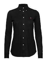 Cotton Knit Oxford Shirt - POLO BLACK