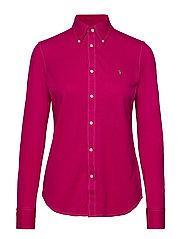 Cotton Knit Oxford Shirt - SPORT PINK