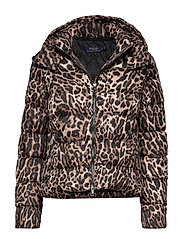 PRINTED POLY-DNF-JKT - LEOPARD PRINT